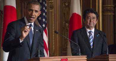US President Barack Obama and Prime Minister Shinzo Abe