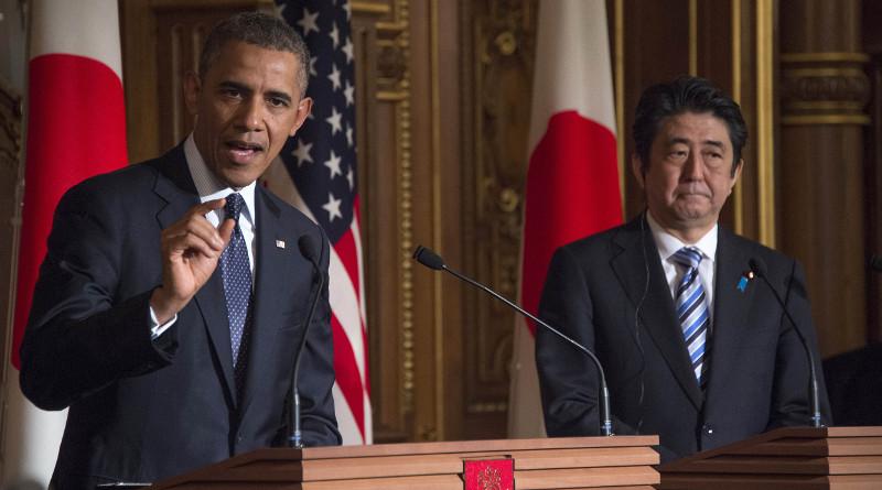 US President Barack Obama and Prime Minister Shinzo Abe