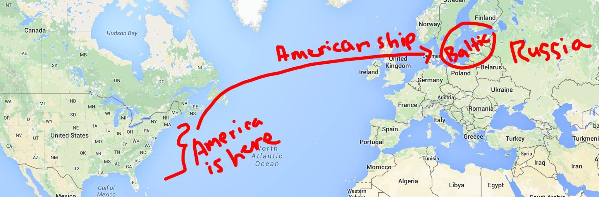 Us map joke