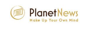Planet News Logo with Tagline