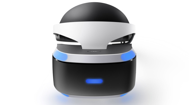Front view of a PlayStation VR headset.
