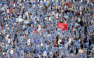 Snapshot of the Immortal Regiment march, May 9 2018