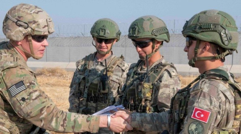 US Army with Turkish Army